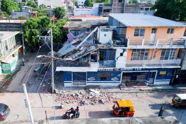 Plusieurs édifices de Juchitan de Zaragoza ont été... (AFP, Mario Vazquez)