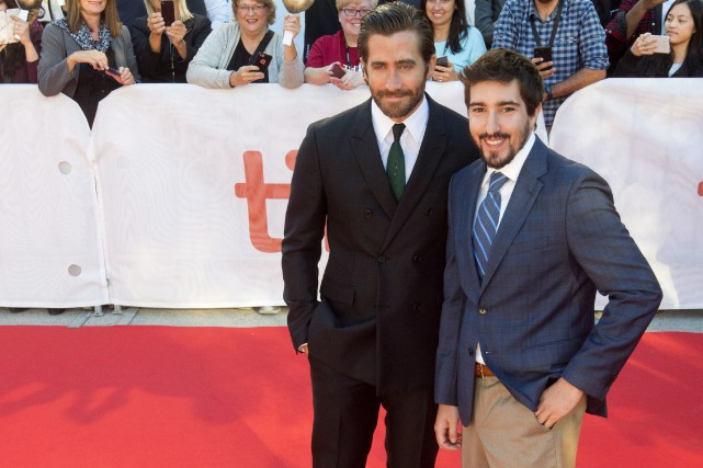 Jake Gyllenhaal et Jeff Bauman... (Photo Frank Gunn, La Presse Canadienne)