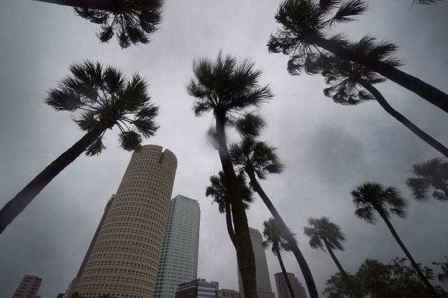 Vue du centre-ville de Tampa, dimanche matin.... (PHOTO AFP)