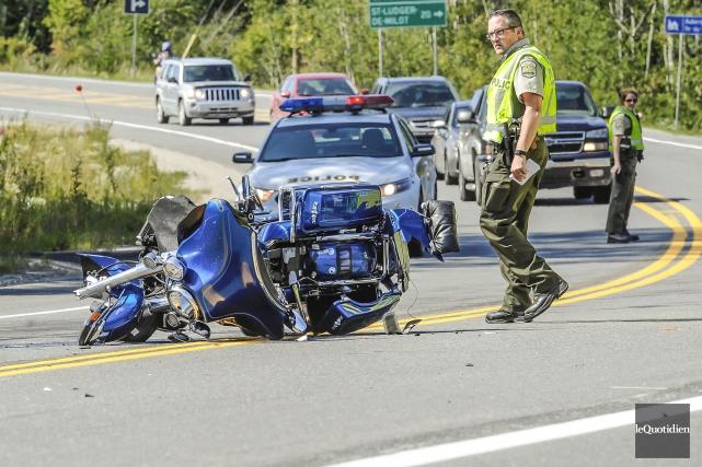 Trois personnes ont été blessées lors d'un accident,... (Le Quotidien, Gimmy Desbiens)