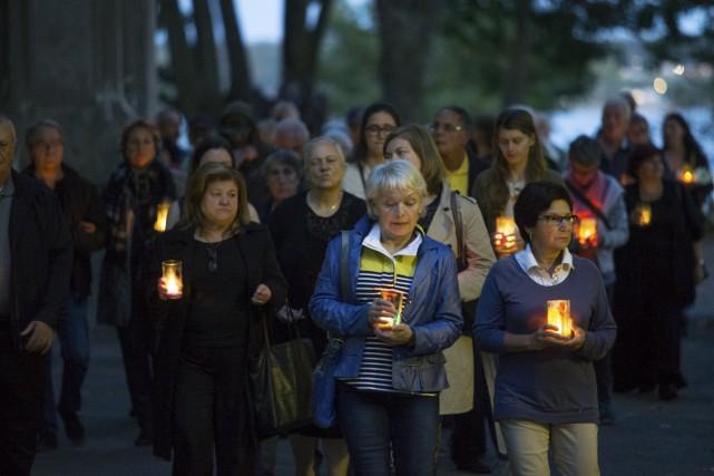 Une cinquantaine de personnes endeuillées par suicide ont... (Olivier Croteau)