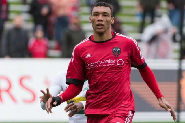 Steevan Dos Santos a créé l'égalité 1-1 à... (Courtoisie)