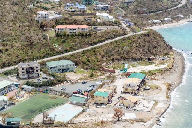Des dommages importants aux Îles Vierges britanniques.... (Photo Reuters)