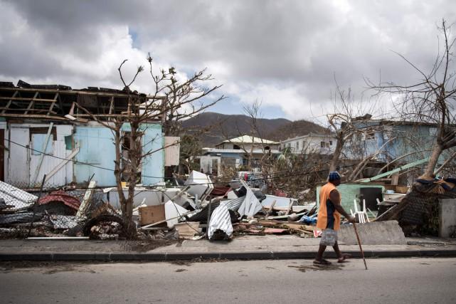 Saint-Martin a été frappé de plein fouet par... (Photo archives AFP)