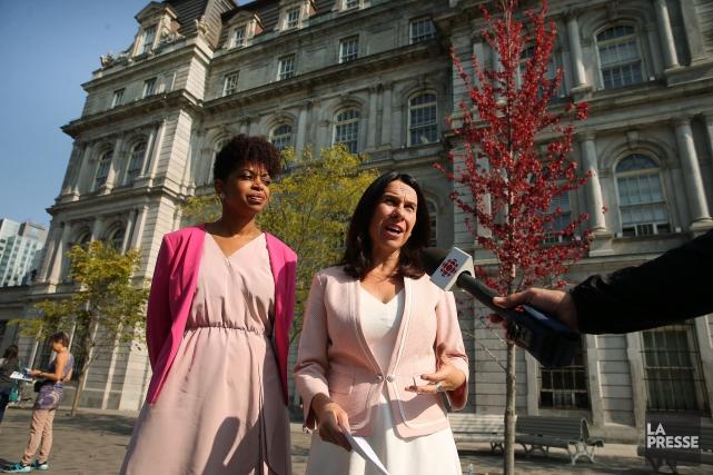 La chef de Projet Montréal, Valérie Plante (à... (Photo Martin Chamberland, La Presse)