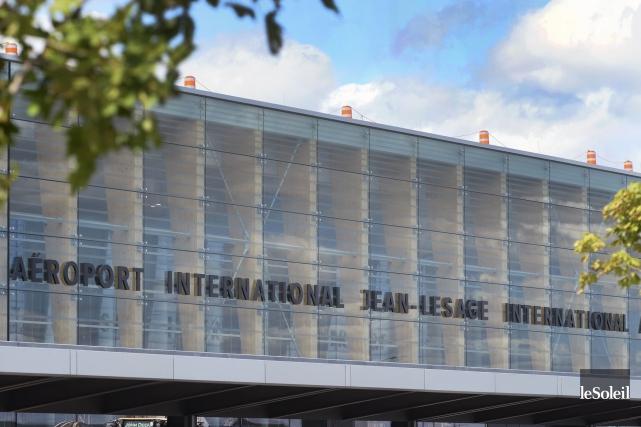 Les travaux de modernisation de l'Aéroport international Jean-Lesage... (Le Soleil, Jean-Marie Villeneuve)