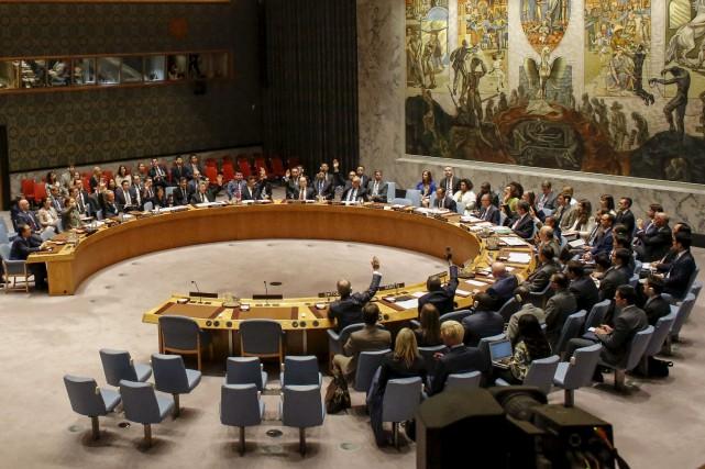 Le Conseil de sécurité de l'ONU a adopté... (AFP, Kena Betancur)