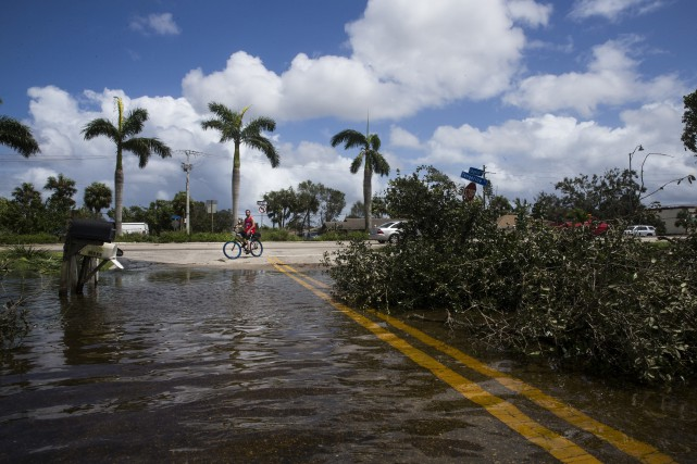 La ville de Bonita Springs, dont de vastes... (PHOTO AP)