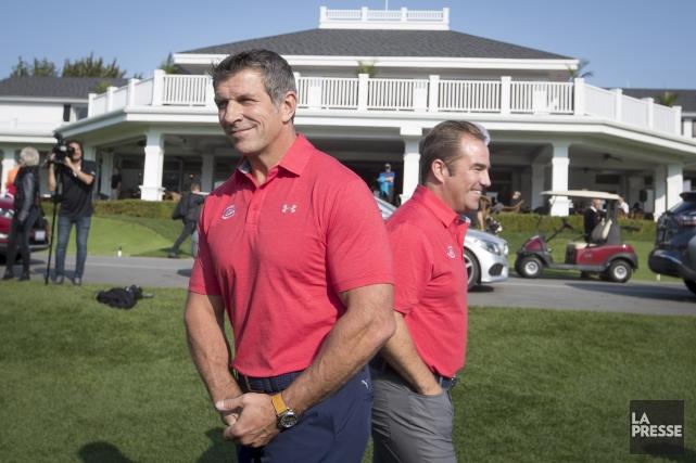 Le directeur général Marc Bergevin et le propriétaire... (La Presse, Ivanoh Demers)