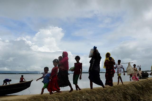 À la frontière entre la Birmanie et la... (AFP)