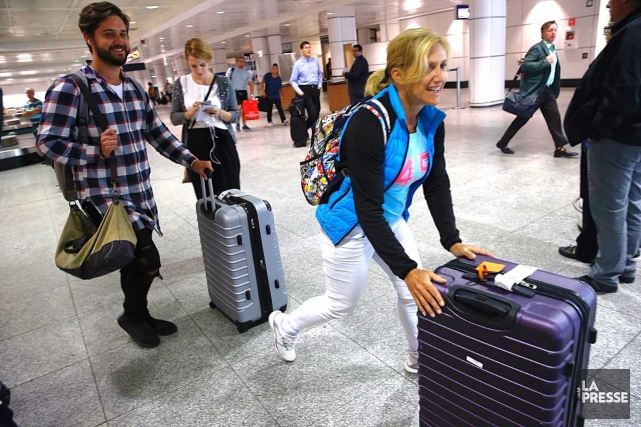 Des voyageurs canadiens étaient de retour des Caraïbes,... (Photo Patrick Sanfaçon, La Presse)