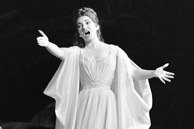Maria Callas dans l'opéra Norma présenté à Paris... (PHOTO ARCHIVES AFP)