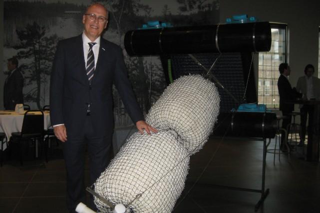 Le président-directeur général de Bionest, Pierre Saint-Laurent, posant... (Photo: Marc Rochette)