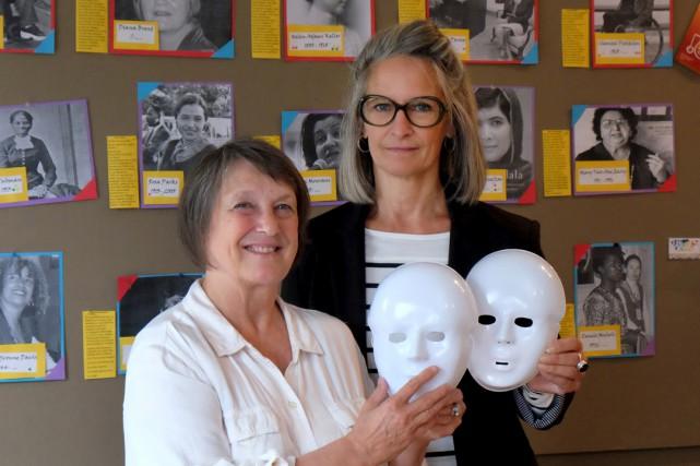 Reina St-Onge, de Horizon pour Elles, et Chantal... (Alain Dion)