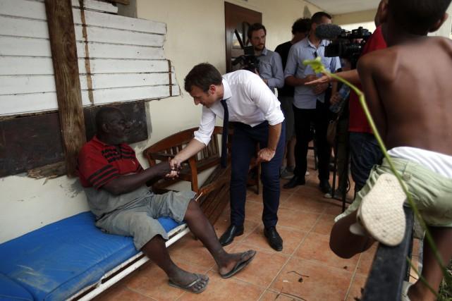 Emmanuel Macron a été largement sollicité lors de... (PHOTO AP)