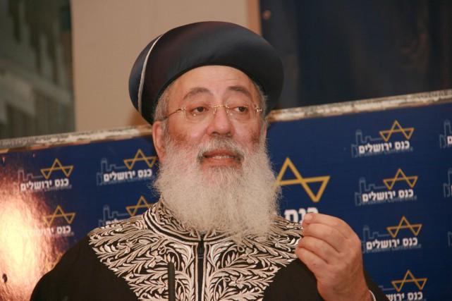 Shlomo Amar est en outre connu pour ses... (PHOTO WIKICOMMONS)