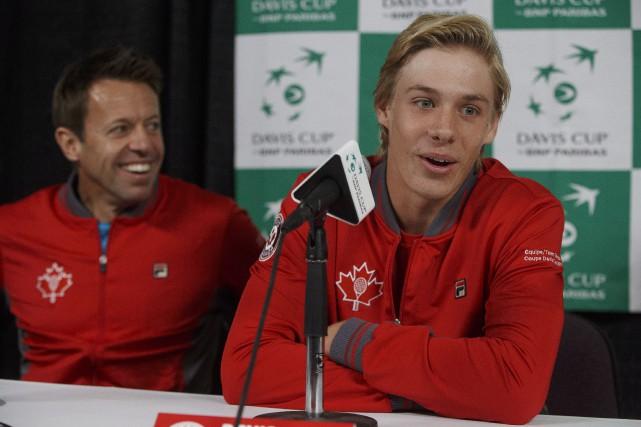 Daniel Nestor et Denis Shapovalov ont participé mardi... (PHOTO PC)