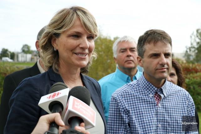 La chef de l'Équipe du renouveau démocratique, Josée... (Photo Le Quotidien, Yohann Gasse)