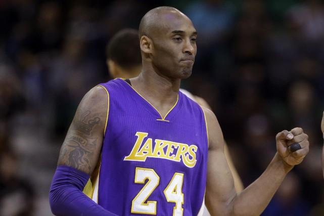 Kobe Bryant domine l'histoire des Lakers avec 1346... (ARCHIVES AP)