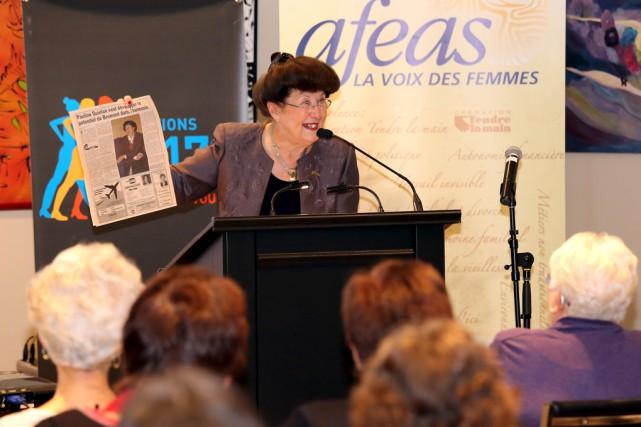 Mairesse de Bromont depuis 1998, Pauline Quinlan espère... (Christophe Boisseau-Dion)