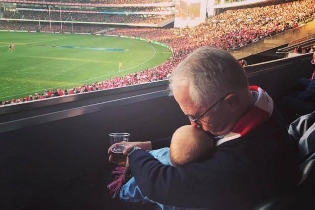 Le premier ministre d'Australie, Malcolm Turnbull, a publié... (Photo tirée du compte Facebook deMalcolm Turnbull)