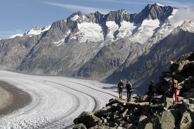 Selon le Laboratoire de glaciologie et géophysique de... (AFP)