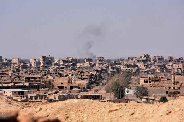 Appuyées par l'aviation russe, les troupes prorégime syriennesont... (AFP)
