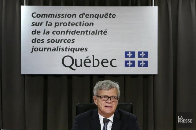 Le président de la Commission d'enquête sur la... (Photo Robert Skinner, archives La Presse)