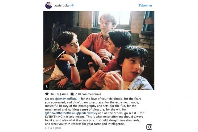 Xavier Dolan a rédigé une véritable déclaration d'amour... (Photo tirée du compte Instagram de Xavier Dolan)
