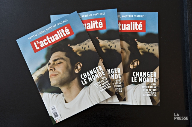 Le magazineL'actualitéa dévoilé son nouveau visage mercredi.... (La Presse, Patrick Sanfaçon)