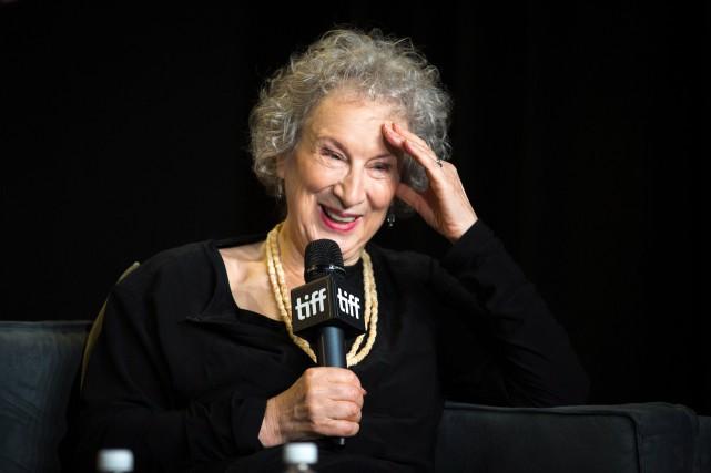 Margaret Atwood lors d'une conférence de presse à... (PHOTO PC)