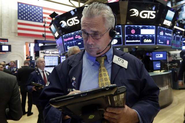 Jeudi, le marché était marqué par l'annonce d'une... (AP)