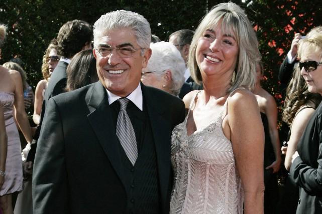 Frank Vincent et sa femme Kathleen lors des... (PHOTO ARCHIVES AP)