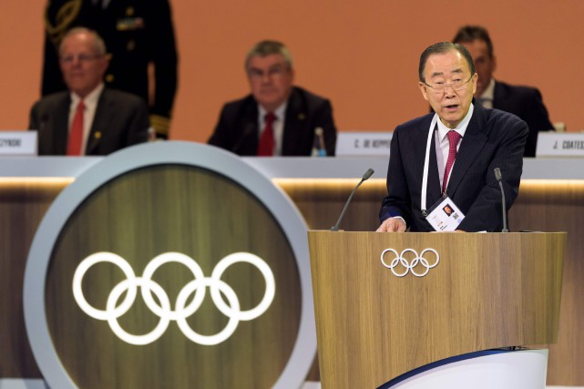 Ban Ki-Moon... (Photo Fabrice Coffrini, AFP)