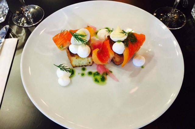 Le gravlax de saumon du restaurant Gaston... (photo fournie par le restaurant)