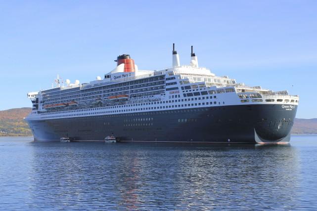 Le Queen Mary 2 prévoyait s'arrêter à Gaspé... (Collaboration spéciale Gilles Gagné)
