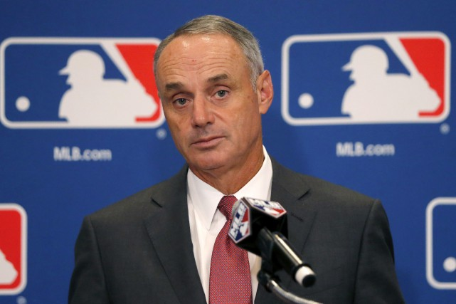 Le commissaire du Baseball majeur, Rob Manfred... (PHOTO ARCHIVES AP)