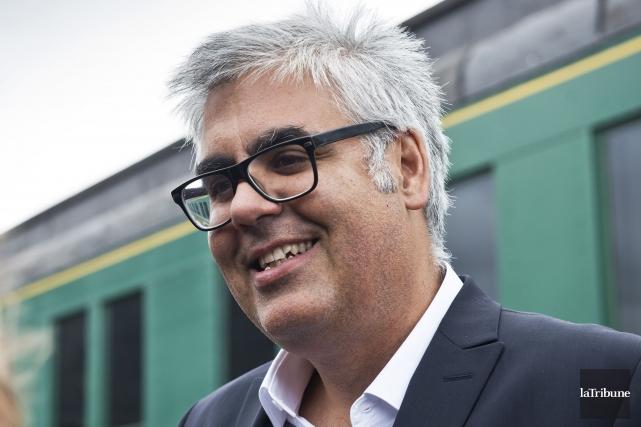 Le promoteur du train de passagers Montréal-Sherbroooke François... (Archives, La Tribune)