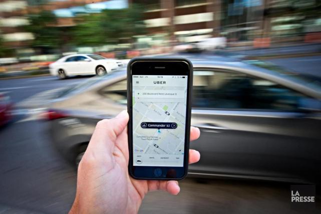 La direction québécoise d'Uber a informé des partenaires... (PHOTO PATRICK SANFAÇON, ARCHIVES LA PRESSE)
