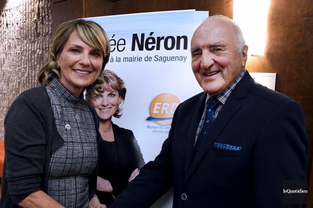 La candidate à la mairie et chef de... (Photo Le Quotidien, Rocket Lavoie)