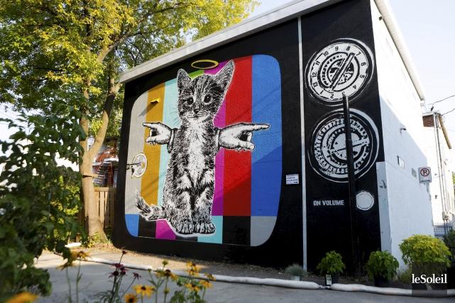 La murale de l'artiste de Québec MC Grou... (Le Soleil, Caroline Grégoire)