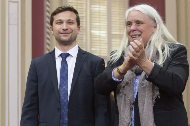 Gabriel Nadeau-Dubois et Manon Massé proposent de mieux... (Photo Jacques Boissinot, La Presse canadienne)