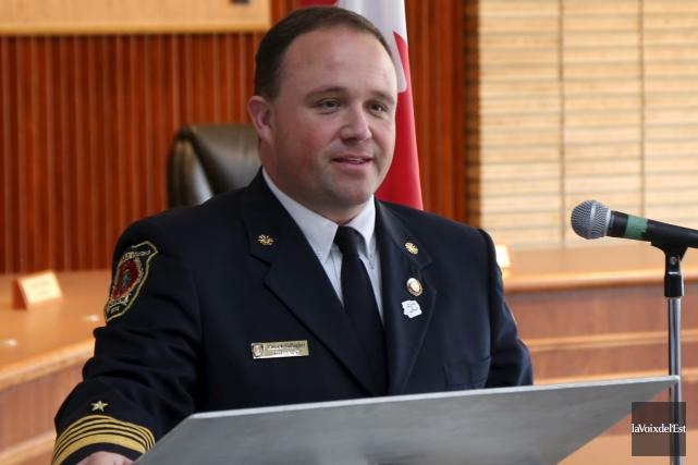 Patrick Gallagher, directeur du Service de sécurité incendie... (archives La Voix de l'Est)