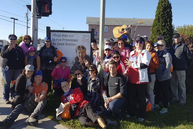L'an passé, les participants à la marche «C'tannée... (Courtoisie)
