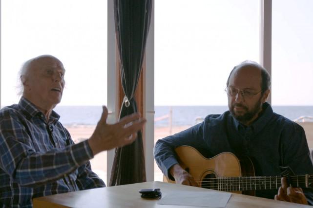 Gilles Vigneault et Michel Rivard...