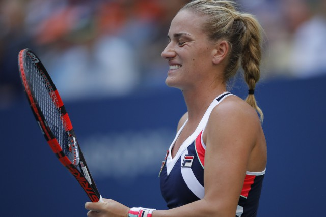 Timea Babos... (PHOTO EDUARDO MUNOZ ALVAREZ, archives AFP)