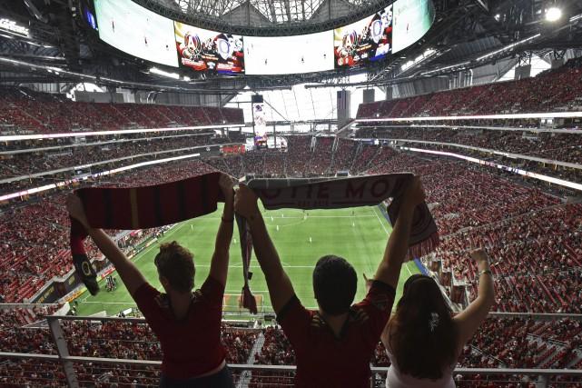 Atlanta, qui a fait ses débuts en MLS... (Photo Hyosub Shin, Atlanta Journal-Constitution via AP)