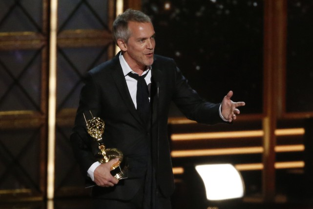 Jean-Marc Vallée recevant son prix.... (Photo Reuters)