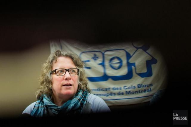 Chantal Racette, ex-présidente duSyndicat des cols bleus regroupés... (Photo Edouard Plante-Fréchette, Archives La Presse)