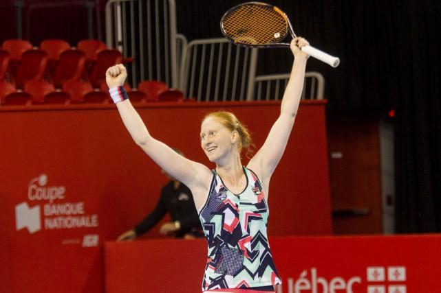 La Belge Alison Van Uytvanck a réussi une... (Le Soleil, Caroline Grégoire)